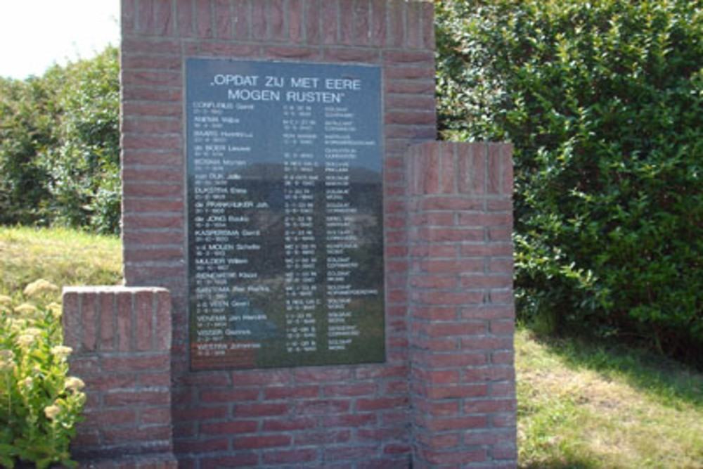 Memorial Killed Soldiers May 1940