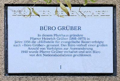 Plaque Heinrich Grüber