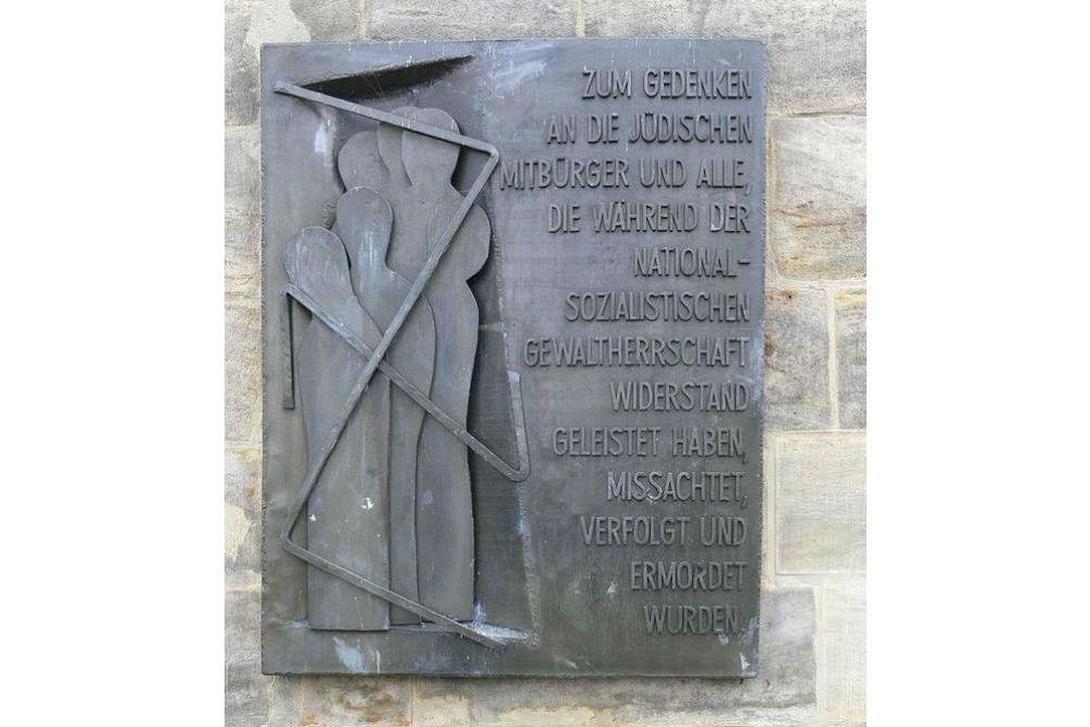 Memorial Plaque Nazi Victims