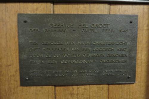 Plaquette Geertje Pel-Groot