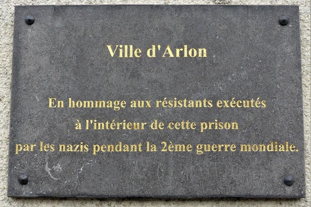 Gedenkplaat aan de Gevangenis