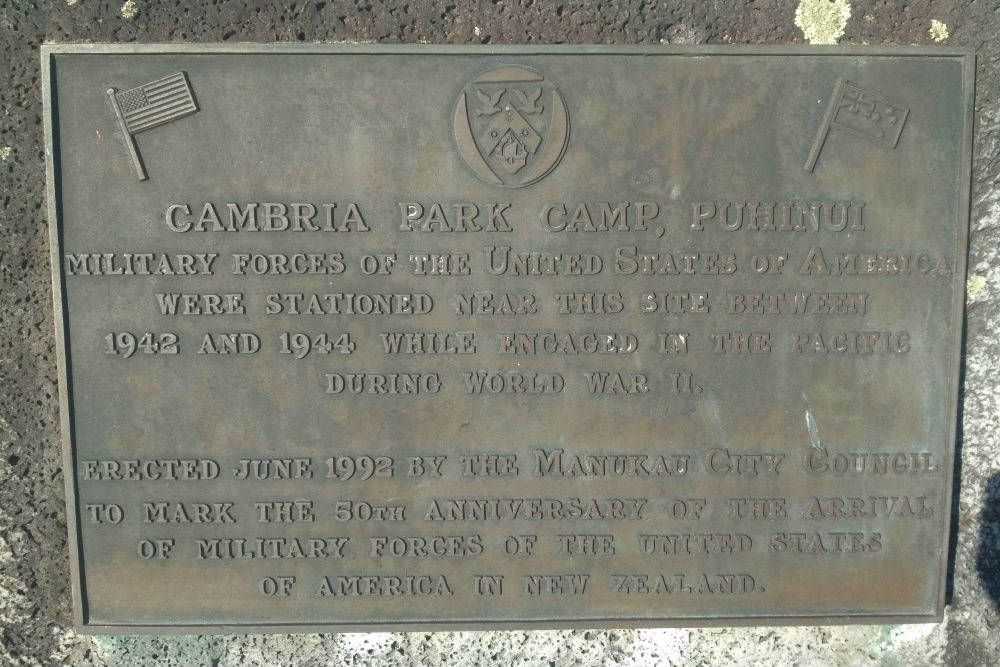Plaquette Cambria Park Camp