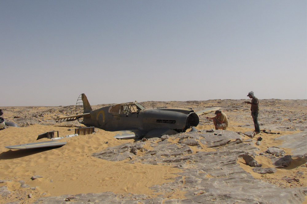 Crashlocatie & Restant Curtis P-40 Kittyhawk Al Farafrah