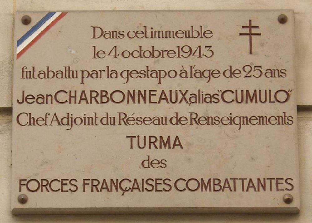 Plaque Jean Charbonneaux