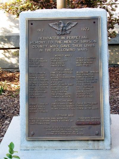 War Memorial Simpson County