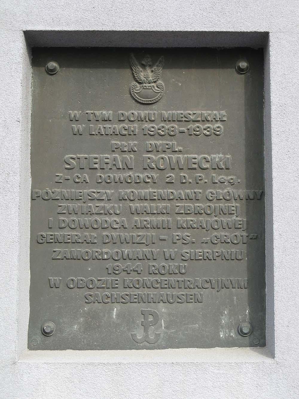 Plaque Stefan Rowecki