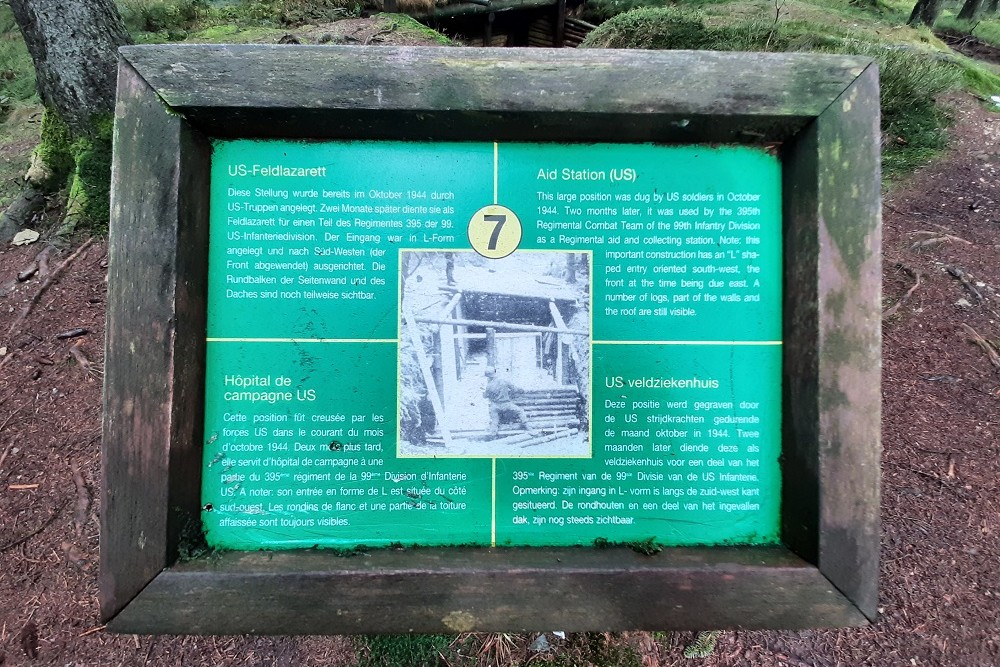 Memorial Site Hasselpath Position 7. Aid Station (US)