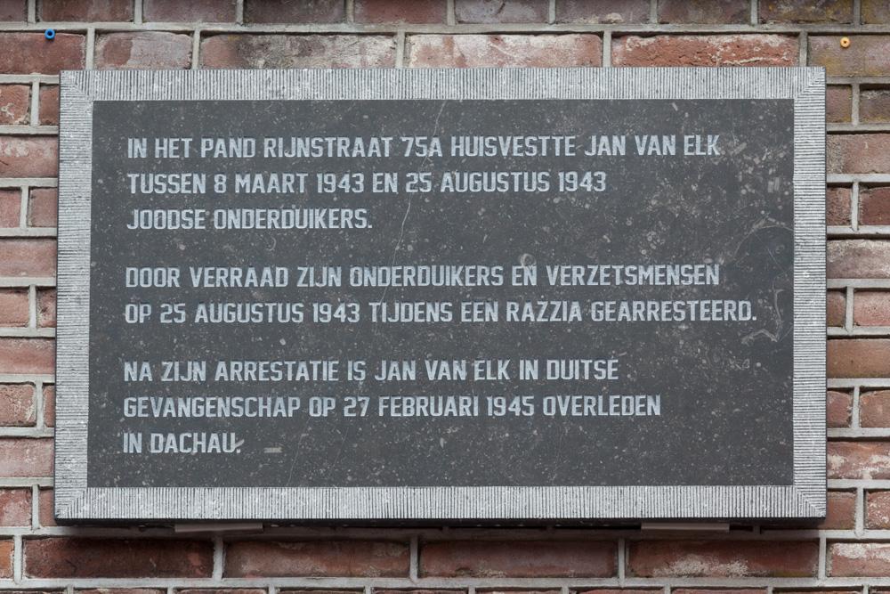 Plaque Resistance Hero Jan van Elk