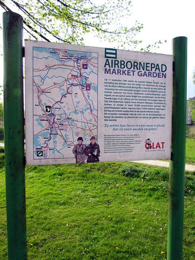 Information Sign Airborne Walking Trail Sint-Oedenrode
