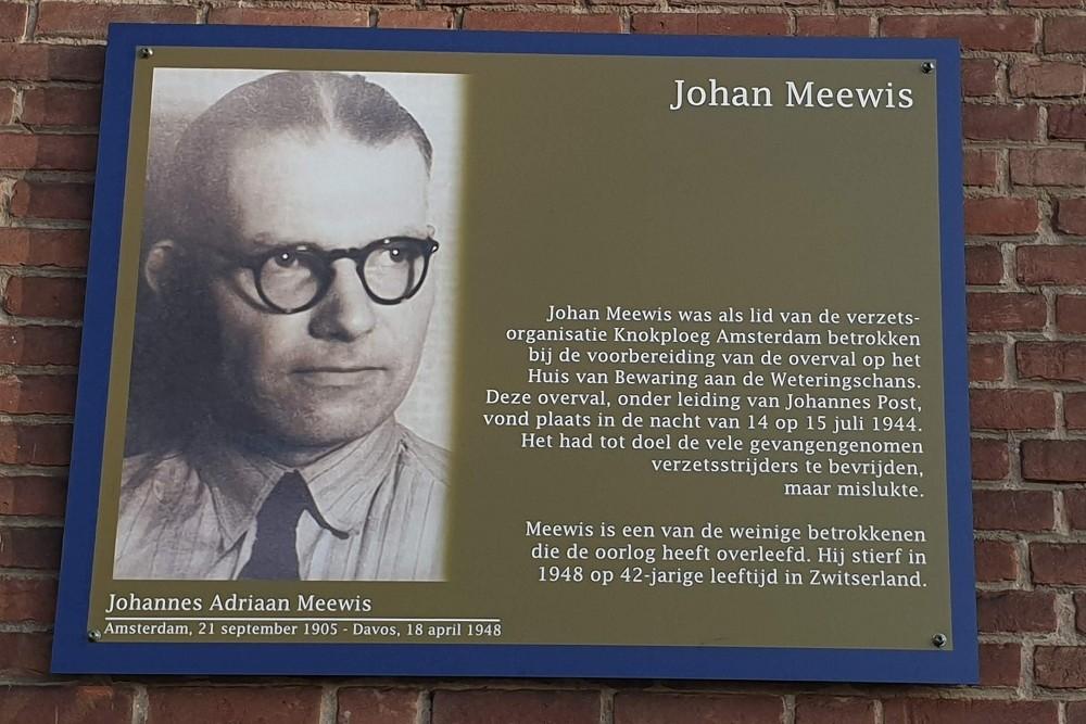 Memorial Plates Slotermeer Johannes Meewisstraat