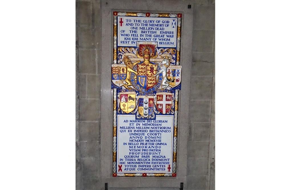 Plaque Dead of the British Empire