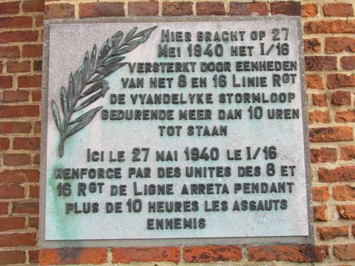 Plaque 27. May 1940 Church Emelgem