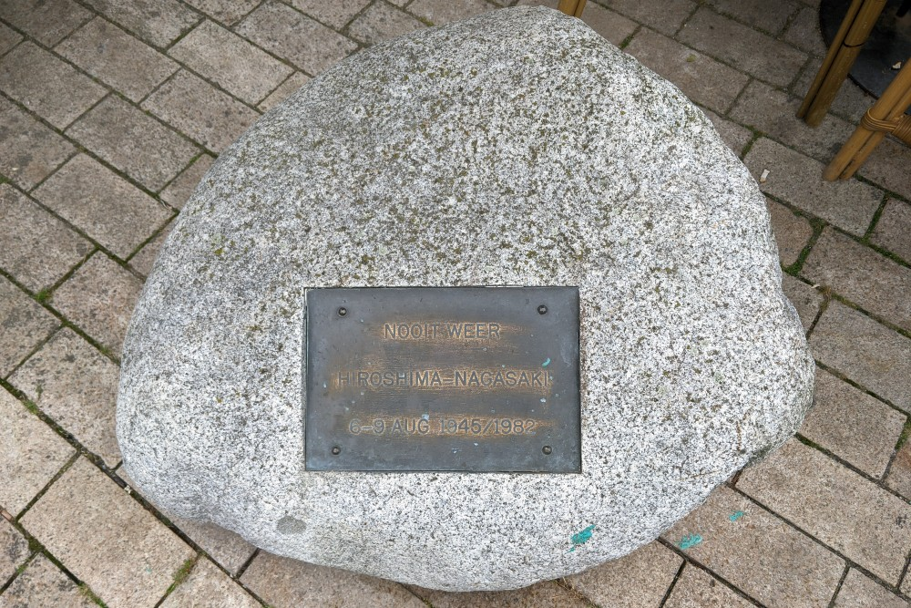 Hiroshima monument op de Vijfsprong in Tilburg wordt geen zwerfkei