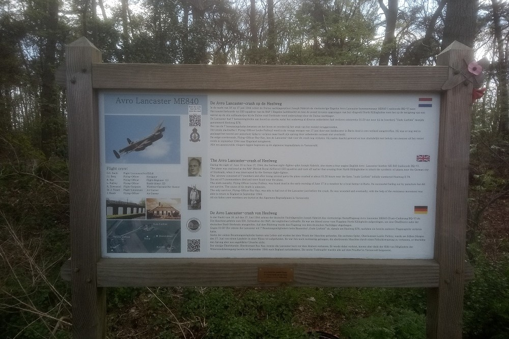 Crash Site Avro Lancaster ME840