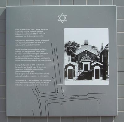 Plaquette Voormalige Synagoge