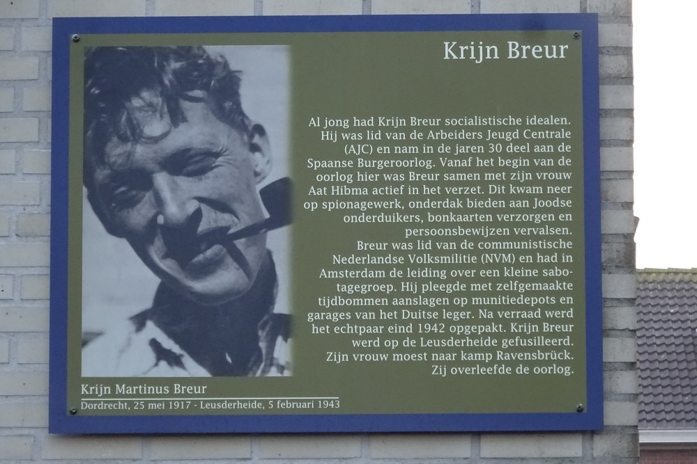 Memorial Plates Slotermeer Krijn Breurstraat