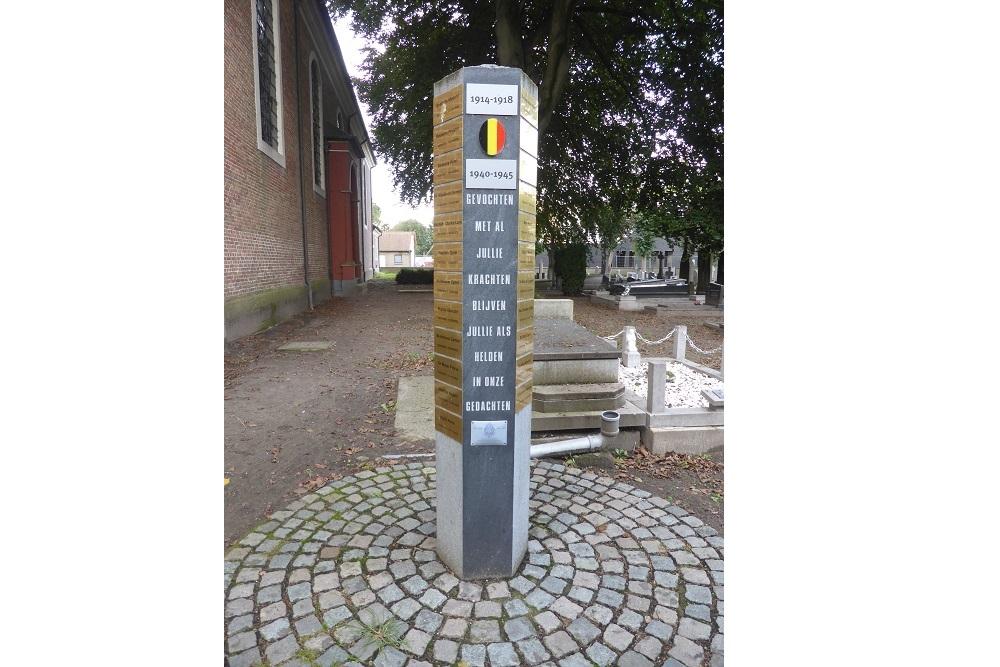 Herdenkingszuil begraafplaats Kaprijke
