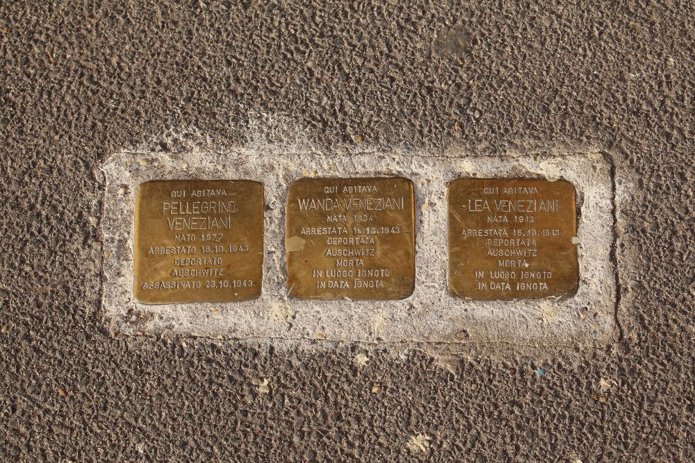 Stolpersteine, Viale Giotto 3 Rome