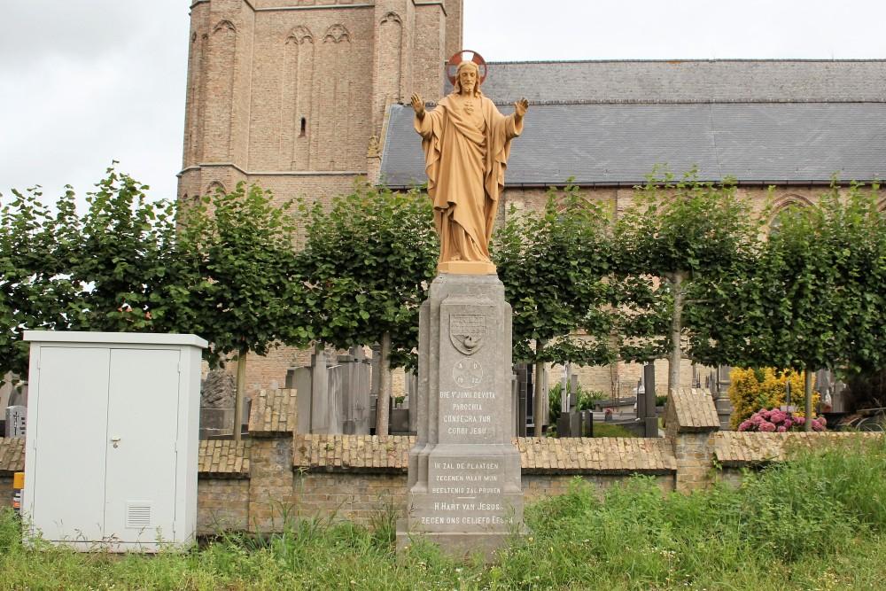 Holy Heart Statue-War Memorial Esen