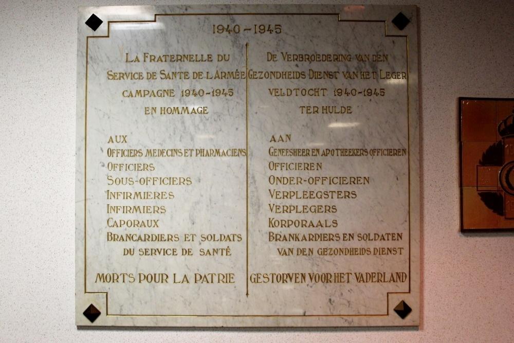 Commemoratives Plates Militair Hospitaal Koningin Astrid