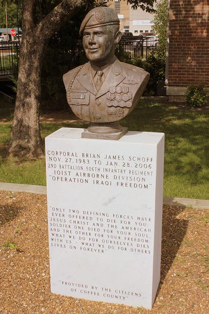 Monument Corporal Brian Schoff