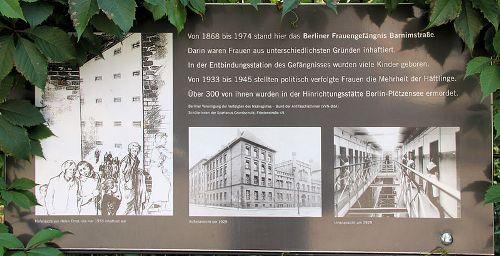 Plaque Female Prison Barnimstraße