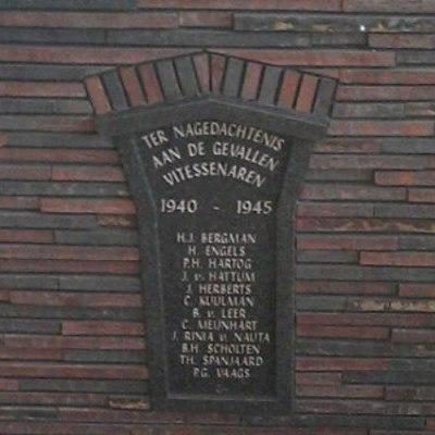 Plaquette gevallen Vitessenaren 1940-1945