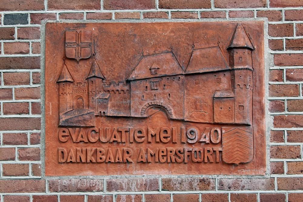 Plaquette Evacuatie Mei 1940