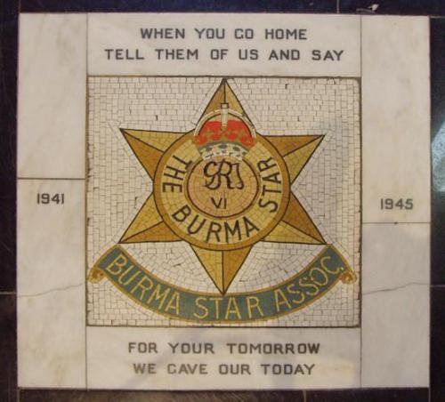 Monument Burma Star Association St Anne Cathedral