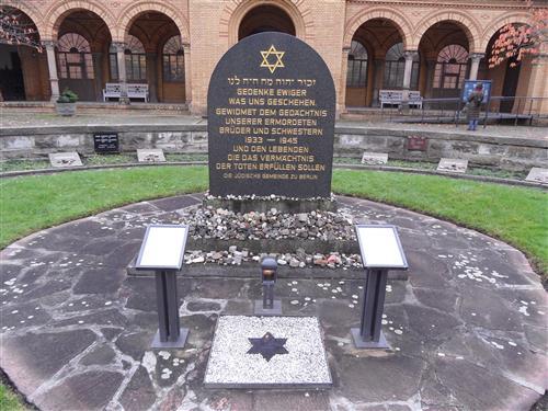 Holocaust monument Jewish Cemetery Weissensee