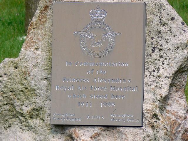 Monument Princess Alexandra's Royal Airforce Hospital