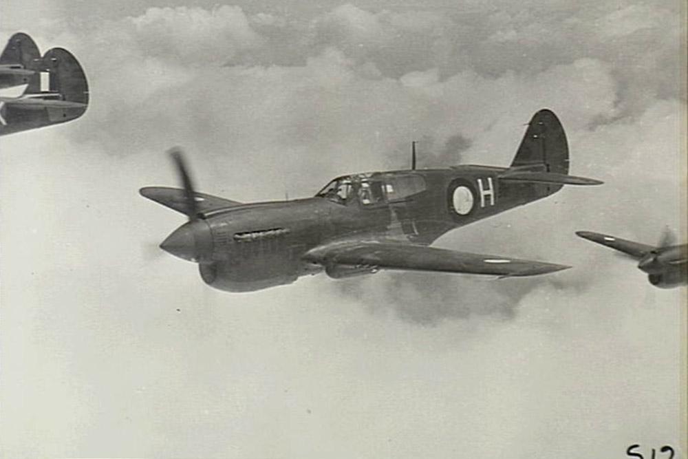 Crashlocatie P-40N-1-CU Kittyhawk NZ3120 Code J