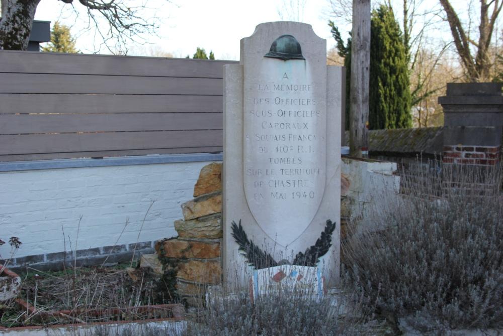 Monument Franse 110e Régiment d'Infanterie Chastre