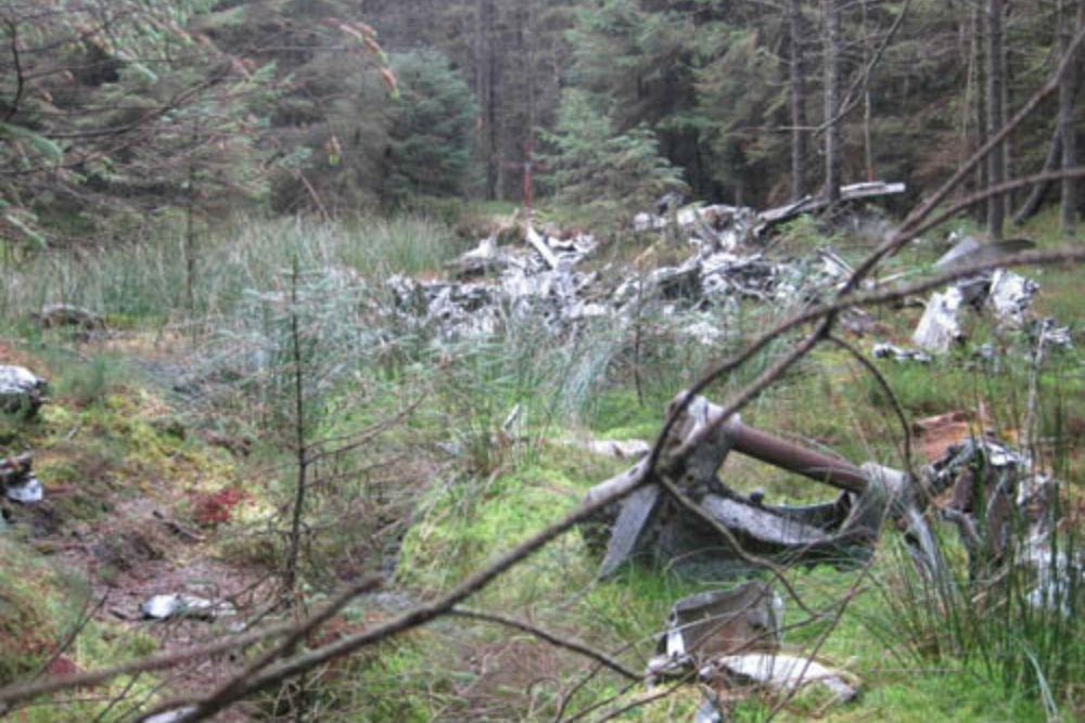 Crashlocatie & Restant Halifax Bommenwerper Glendhu Hill