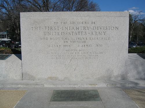 Monument 1st Infantry Division Washington DC