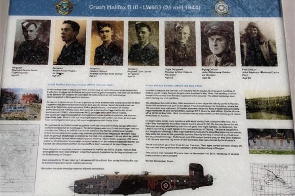 Memorial Plaque Crash Halifax LW653