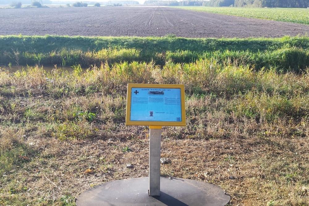 Memorial Sign Crash Location Messerschmitt Bf 109