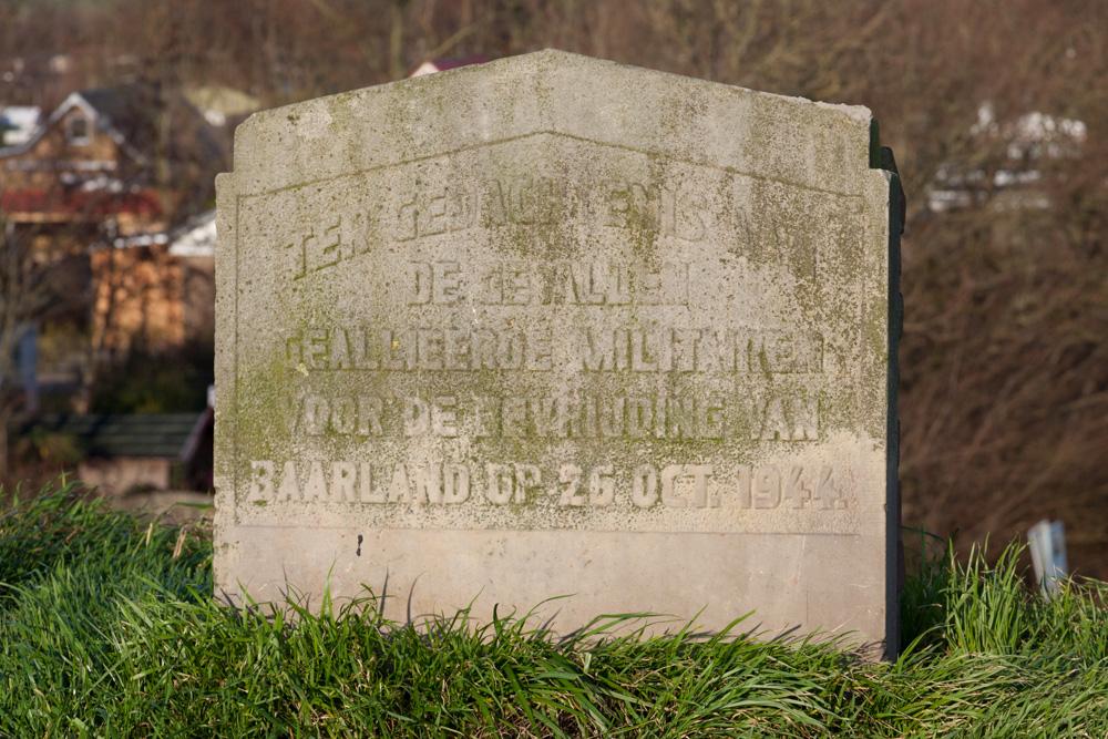 Memorial gevallen bevrijders Baarland