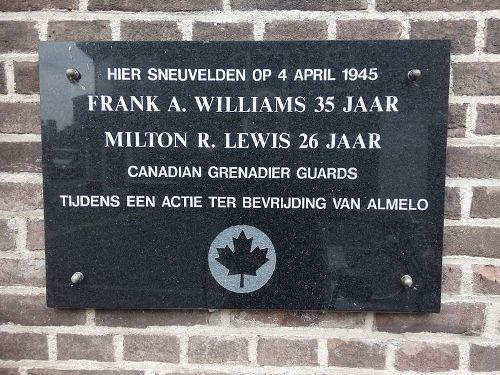 Plaquette Omgekomen Geallieerde Soldaten