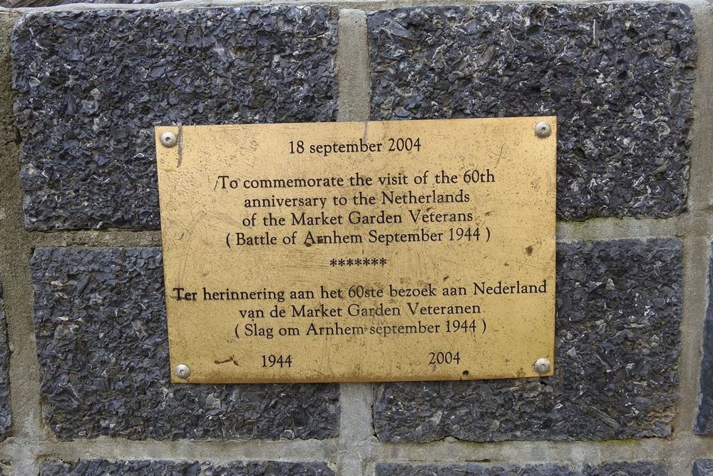 Plaque 60th Anniversary Market Garden
