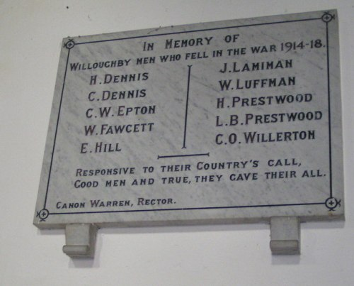 War Memorial Willoughby