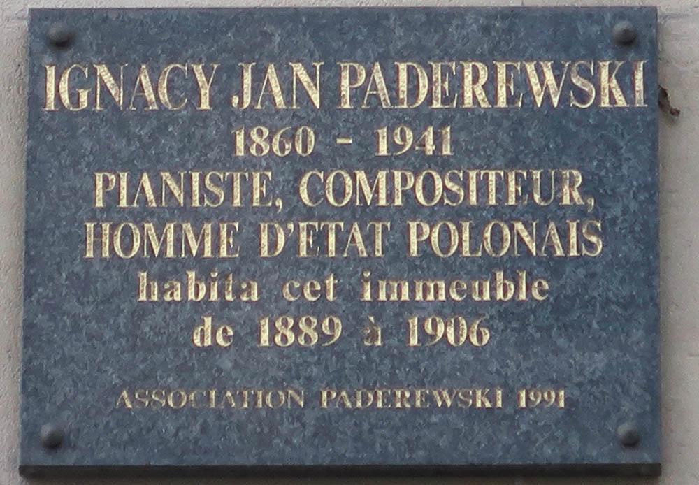 Former House Ignacy Paderewski