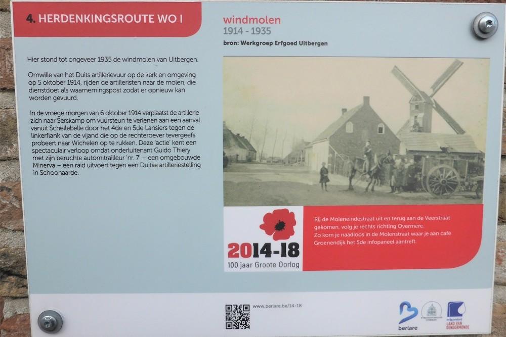 Herdenkingsroute 100 jaar Groote Oorlog - Informatiebord 4