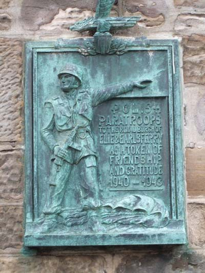 Plaque Of Gratitude 1st Polish Parachute Brigade Earlsferry