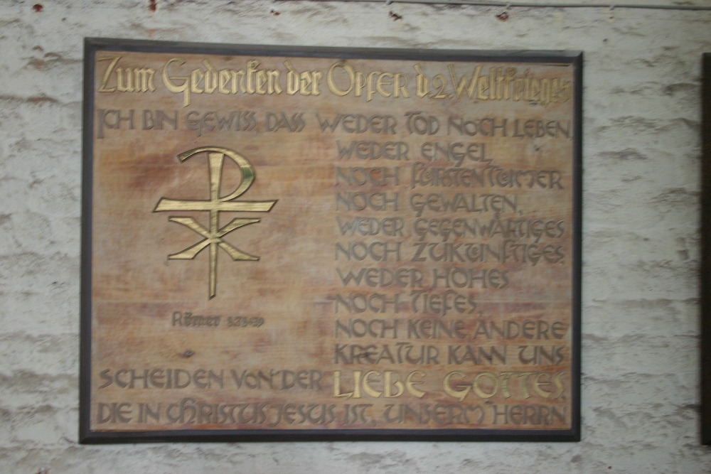 Remembrance plaque Nikolaikirche