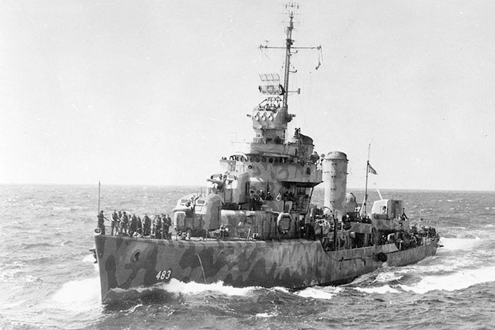 Shipwreck USS Aaron Ward (DD-483)