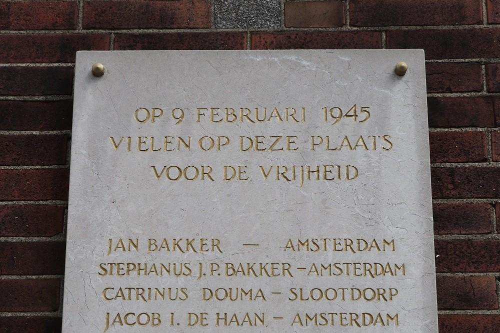 Monument Executie 9 Februari 1945 Zaandam