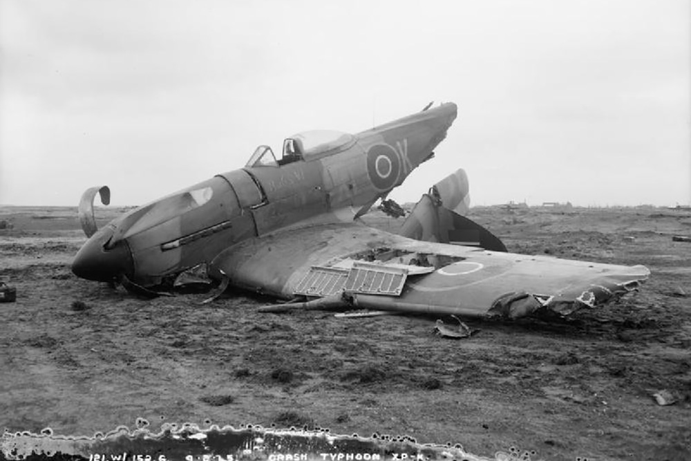 Crash Site Hawker Typhoon XP-K