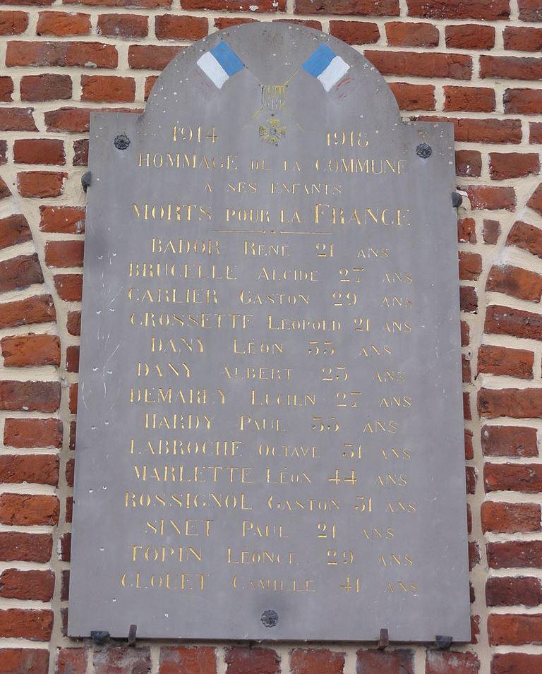 War Memorial Besmont