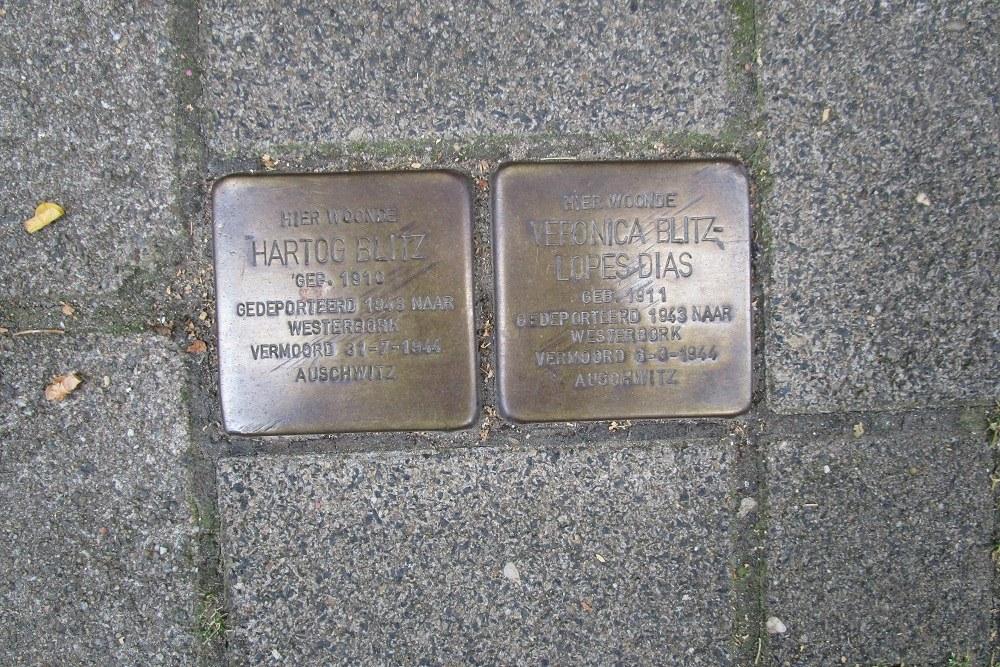 Remembrance Stones Roerstraat 36-II